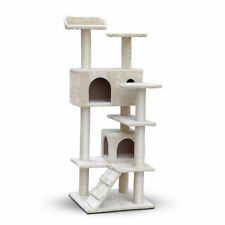Cat Scratching Post Tree Scratcher Pole Furniture Gym House Toy 134cm Beige