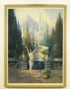 "George Hadland (American) ""The High Priestess"" Original Pastel Painting Signed"