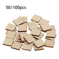 New 50/100pcs Scrabble Wood Tiles Pieces Blank Crafts Pendants Spell
