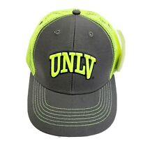 UNLV Trucker Hat Unisex-Youth Sized Licensed Snapback Gray & Neon Yellow