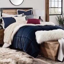 UGG Reversible KING 3 piece sherpa Comforter Set Navy