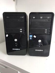 2x Zoostorm Pc's Intel Core i3-4170 6GB Ram