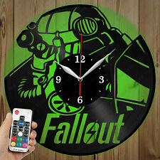 LED Vinyl Clock FallOut LED Wall Art Decor Clock Original Gift 5332