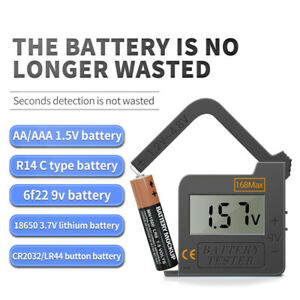 Universal LCD Digital Battery Tester Checker C D AA AAA 1.5/3/3.7/9V Button Cell
