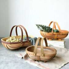 Wooden Garden Fruit Vegetables Basket TRUGS: SUSSEX TRUG Home Decor