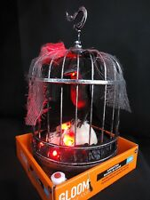 """Animated Raven In Cage Talking Halloween Prop Decoration    """"WATCH OUR VIDEO"""""""