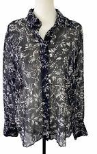 Gerry Weber Ladies Black Floral Blouse Size 16
