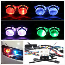 2Pcs Car Headlight Retrofit RGB LED Light Devil Eyes Bulbs Bluetooth APP Control