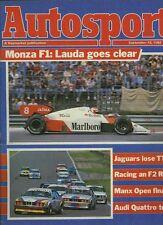 AUTOSPORT 13th SETTEMBRE 1984 * ITALIANO Grand Prix & Audi Quattro Test *