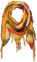 Collection XIIX Women's Wrap Yellow Multi One Size Foil Boucle Triangle $28 693