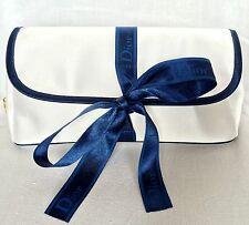 Christian DIOR Parfum Satin Silk Ribbon Toiletry GiFT Bag Makeup Cosmetic White