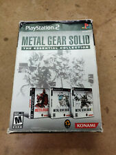 Metal Gear Solid The Essential Collection For Ps2 (Sony PlayStation 2, 2008) Cib