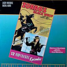 ZORRO'S BLACK WHIP -LINDA STIRLING - (2) LASERDISCS - 12  WHIPCRACKING  EPISODES
