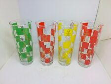 """Drinking Glasses 7"""" Game Room Chess Design Multi-Colored"""