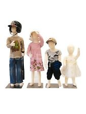 4 Units Children Mannequin Dress Form Display Flexible #JF-CH1357T Group