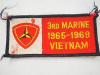 USMC 3rd Marine Division Vietnam Veteran 1965-1969 Patch