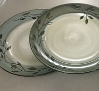 """Set of 2 Pfaltzgraff PASTORAL LEAVES Dinner Plates 11 1/4""""  Excellent Condition"""