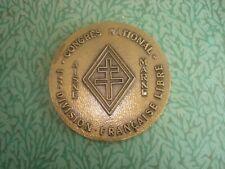 Médaille Congrès National LAON 1 ère DIVISION FRANÇAISE LIBRE  CROIX De LORRAINE