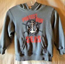 Gymboree Go Nautical Boy's Sweatshirt Hoodie Sz Small S 5 6 Anchor Protect Seas