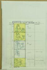 Beetlejuice Original Hand Drawn Storyboard Animation Sketch Page 38 (32-10)