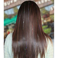"""Seamless Colorful Straight Synthetic Shimmer Highlight Hair Piece Extensions 35"""""""