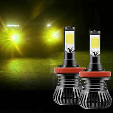 3000K Golden Yellow Strobe Flash Switch H8 H11 COB LED Bulbs For Fog DRL Lights