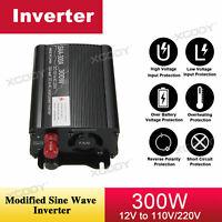 BYSAA 300W Véhicule Auto Convertisseur Car Power Inverter DC 12V AC 220V