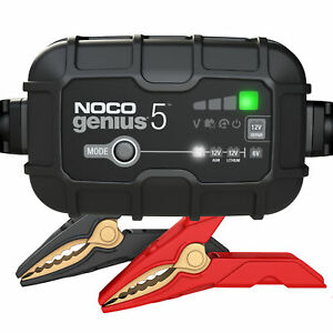 NOCO Genius GENIUS5 6V 12V 5Amp UltraSafe Battery Charger and Maintainer