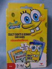 "Sponge Bob SquarePants Card Games ~ Crazy 8""s & Rummy ~ 2 Games ~ New - Ages 3+"