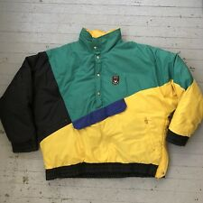Vintage 90s Color Block Triple Fat Goose Popover Down Coat Jacket Ski Jacket L