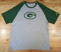 Nike NFL Team Apparel Mens XL Short Sleeved T-Shirt Green Bay Packers EUC