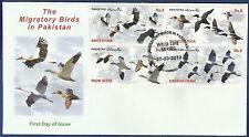 PAKISTAN 2012 MNH FDC MIGRATORY BIRDS WILD LIFE SERIES WILDLIFE ANIMALS WHITE