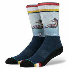 Stance Calzini Da Uomo Curren. LEGGENDE Surf TOM Navy Supporto Plantare grandi UK 8.5 - 11.5