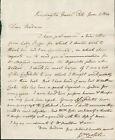 William Crotch SIGNED AUTOGRAPHED Manuscript Letter ALS 1824 Composer Organist