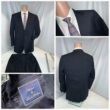 Brooks Brothers Madison Suit 39R Blue 2B1V 33x30 Pleat USA Mint YGI RE2538