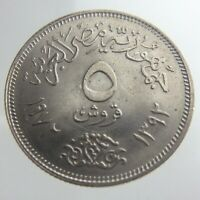 1392-1972 Egypt 5 Piastres KM# A428 Coin Copper-Nickel Lustrous U233
