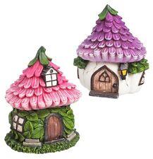 FAIRY GARDEN Miniature ~ Cozy Garden Fairy Houses – Set of 2 ~ Mini Dollhouse