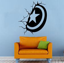Captain America Wall Decal Vinyl Sticker Comics Superhero Home Decor (4c8a)