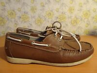 Mens Kurt Geiger KG Brown Boat Deck Shoes - UK 7 FREE P&P!