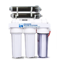 Aquarium Reef Reverse Osmosis 6 Stage RO/DI Water Filter System 75 GPD 0ppm USA