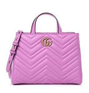 Gucci Pink Quilted Leather Matelasse Marmont Satchel Shoulder Bag 448054 00926