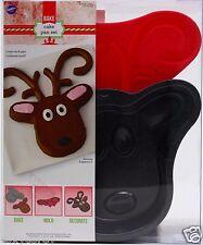 Christmas Wilton Reindeer Cake Pan Set 2105-8015 NWT