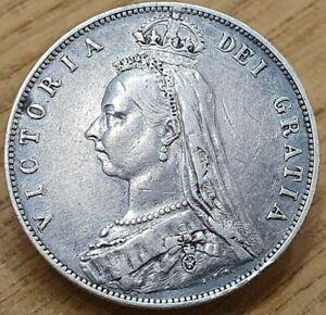 1889 Victoria Silver Half Crown