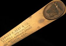 ANTIQUE EDWARD H BEST CO TEXTILES PURCHASE ST BOSTON MASS KNOXALL LETTER OPENER