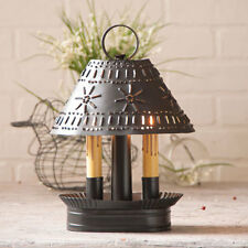 Country new GRANDMA'S shaded black punched tin double accent light