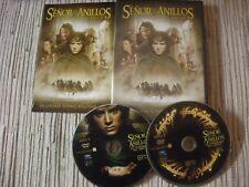 DVD EL SEÑOR DE LOS ANILLOS LA COMUNIDAD DEL ANILLO 2 DISCOS USADO BUEN ESTADO