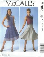 McCall's 7048 Misses' Top, Dress and Skirt    Sewing Pattern