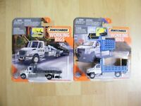 Matchbox Real Working Rigs 2020 - 2 Modelle Flatbed-Autotransporter und Freeway