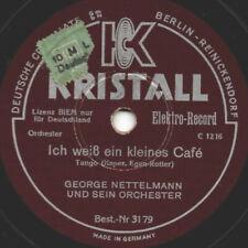 """78er Dt. Tanzmusik Tango Georg Nettelmann Orchester """"Ich weiß ein kleines Café"""""""
