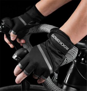 ROCKBROS MTB Road Bicycle Gloves Shockproof Half Finger Fitness Cycling Gloves